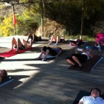 Pilates Retreat Spain Class on the platform